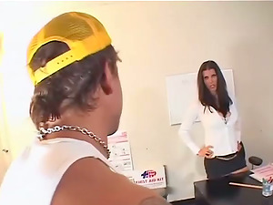 Gorgeous manager Shay Glances wants her employee's dick