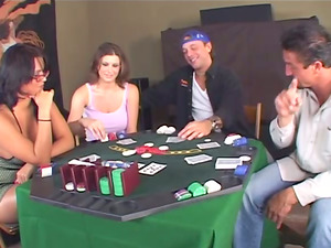 Cougar Eva Angelina Loses On Poker And Have To Deepthroat Big Dick