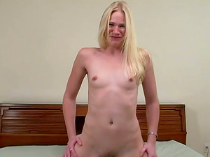 Titless blonde Aaliyah Jolie deepthroats a Big black cock before taking a rail on it