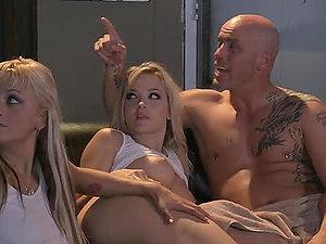 Greatest Girl/girl Twat Threesome Hard-core Ever!