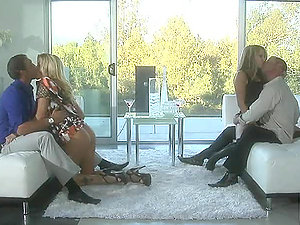 Wicked Blondes Soiree With Their Spouses in a 4 way