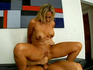 Buxomy Blonde Damsel With Hot Butt And Her Paramour In Hook-up Vid