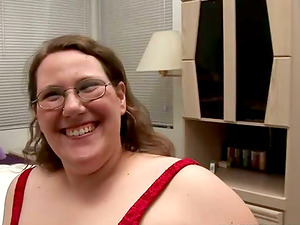 Big-chested BBW Geek In Glasses Gets Laid By Horny Banger