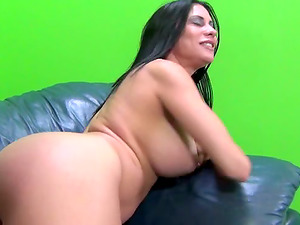 Dark-haired Cougar With Big Melons Wants Hard Black Dick