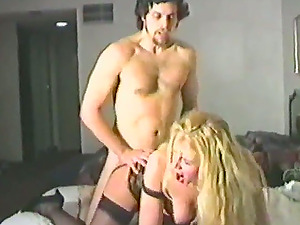 Sexy blonde wearing stockings loves ardent rear end style fuck-a-thon