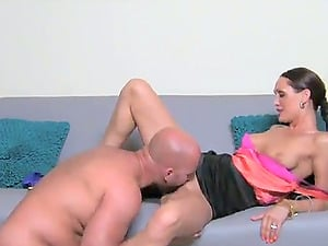 Female Casting Agent Plays With Two Transferred Thick Dick!