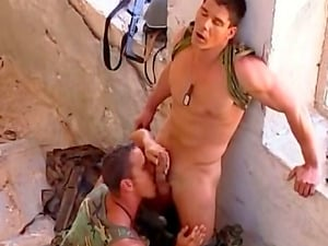 Two Military Homo Studs Banging Each Other In Abandoned Building