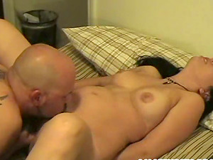 Amazing unexperienced female gets rammed from behind and jizzed on tits