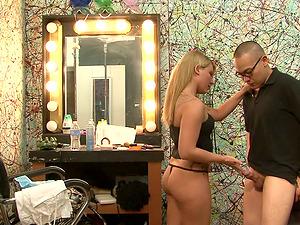 Eric Jover asks blonde ultra-cutie Casey Cumz to suck and bite his dick