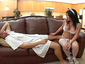 Hot maid Kendra Secrets gives a fellatio and likes multiposition hookup