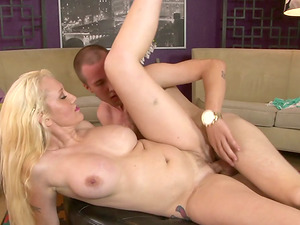 Gonzo Vid of Horny Blonde Getting Pounded Doggystyle