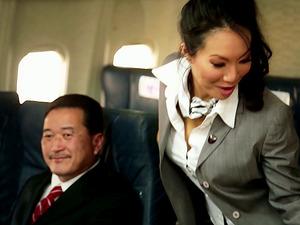 Kinky Flight Hostesses In Amazing Airplane Group Fucky-fucky