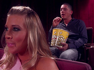 Buxom Blonde With Big Tits Gets Fucked By Stranger In Cinema