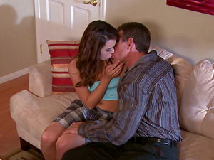Admirable dark-haired Jaslene Jade gets banged by a tattooed stud