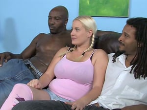 Insane Blonde stunner With Fat Natural Tits Fucking In Threesome