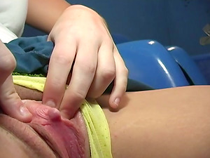 Gloryhole man rod makes this honey yell so hot