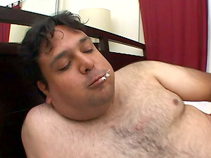 Abominable glutton with diminutive penis fucks Lexi Matthews