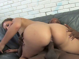 Katie Thomas loves a Double penetration in stunning interracial MMF threesome