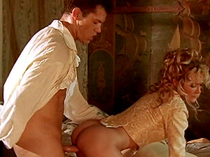 Medieval blonde Jessica Drake blows and gets fucked like never before