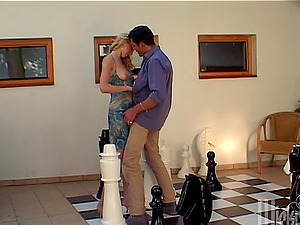 Delightful Janet Alfana gets a throatful after an anal invasion lovemaking
