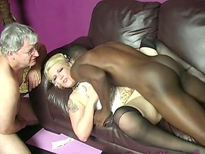 Milky Mummy Cuckolds Her Hubby While Gonzo Fucking a Black Stud