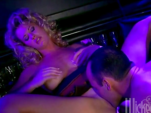 Charming blonde Cougar gets fucked in a bar by a barman