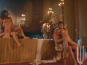 Gorgeous honeys get have a group romp in a luxurious mansion