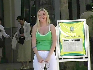 This reality movie has a hot solo model who is having some joy out in public