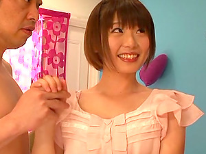 Hot Japanese Hoe Get Her Hairy Cunt Finger-tickled And Fucked In Threesome