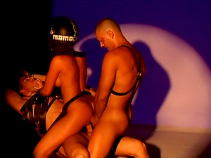 Blonde In Helmet Gets Dual Intrusion In MMF Threesome