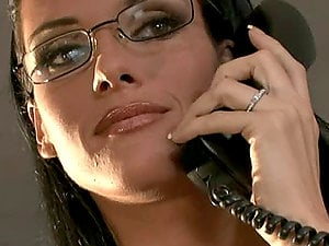 Manager lady Jennifer Dark fucks with her employee in her office