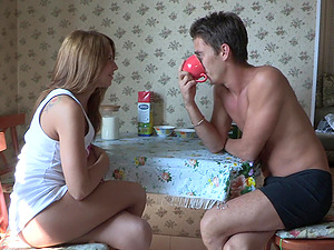 Angelic Masha gets her cock-squeezing booty fucked gently by her BF