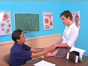 Hot School Dame Blows Her Schoolteacher And Gets A Big Popshot