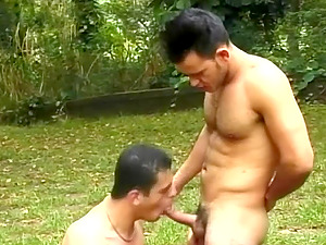 Sizzling Youthful Homo Man Sucking A Stranger's Big Manstick In A Park