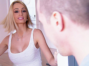 Gorgeous Blonde With Massive Faux Tits Liking A Xxx Rear end Style Fuck