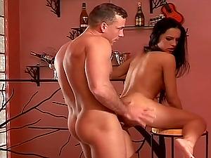 Gonzo assfuck hump scene with long-haired dark haired honey Mela