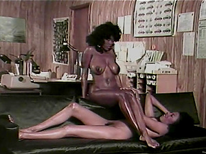 A retro flick with two black lezzies munching vaginas
