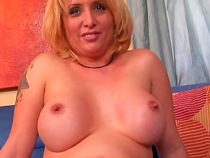 Compilation movie of huge-chested blondes displaying their tits and beavers