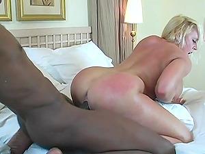 Curvy blonde mummy Alexis Golden lets a black stud rip her fuck-holes apart