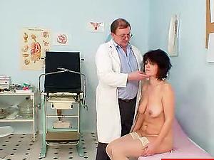 Doc Inserts a Speculum in a Cougars Vulva