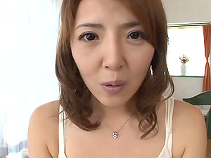 After getting fucked hard this Asian dame takes jizz in her mouth