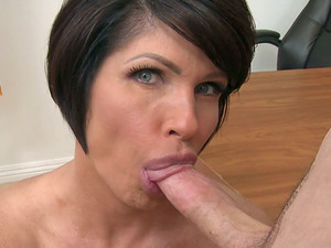 Buxom Mature Professor Gets Her Mouth Packed Witch Dick And Sperm