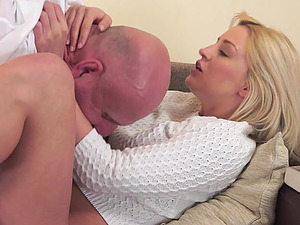 Sienna Day inhales and fucks an old man after he gobbles her out