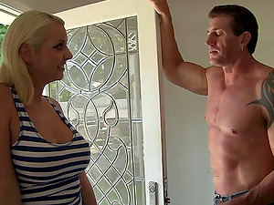 Mandy Sweet is fucked by her masseuse after an oil rubdown