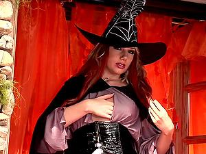 Halloween entertainment for sexy blonde Danielle Maye