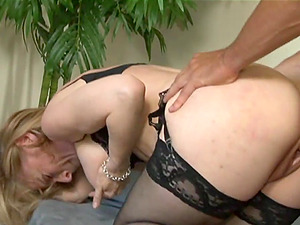 Xxx rear end style banging with blonde mom Nina Hartley