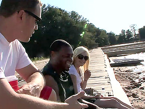 Interracial fucky-fucky on a boat for the trampy blonde Jada Love