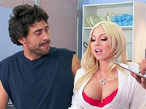 Amazing hump with the buxom blonde medic Christie Stevens