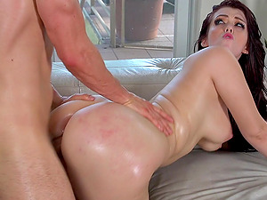 Ryan Smiles gets her awesome butt oiled and fucked by Erik Everhard