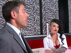 Christy Mack gives head to Mick Blue and has rectal fucky-fucky with him